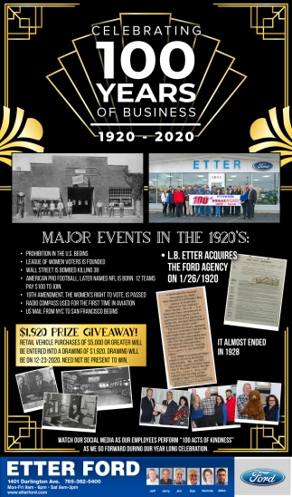 Celebrating 100 Years of Business