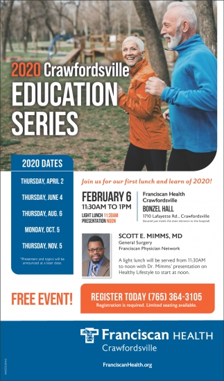2020 Crawfordsville Education Series