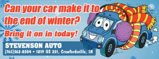 Can Your Car Make it to the End of Winter?