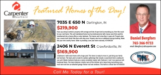 Featured Homes of the Day!