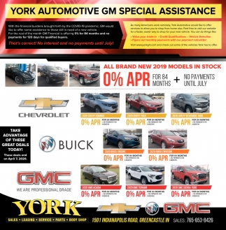 Automotive GM Special Assistance