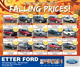 Check Out These Falling Prices!