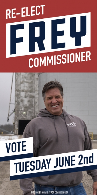 Re-Elect Frey Commissioner