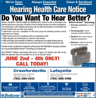 Hearing Health Care Notice