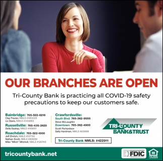 Our Branches are Open