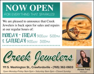 Now Open for Everything that Sparkles!