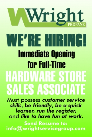 Hardware Store Sales Associate