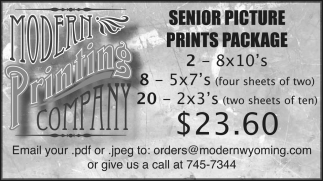 Senior Picture Prints Package
