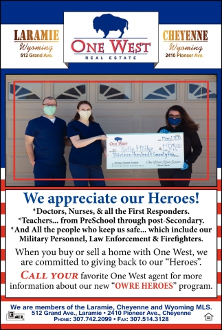 We Appreciate Our Heroes!