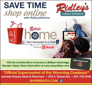 Save Time, Shop Online with Ridley's@home