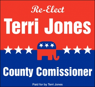 Re-Elect Terri Jones County Comissioner