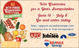 Win Groceries for a Year Sweepstakes