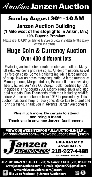Huge & Currency Auction