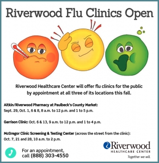 Riverwood Flu Clinics Open