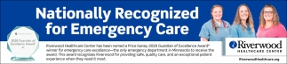 Nationally Recognized for Emergency Care