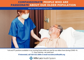 Compassionate People Who are Passionate About Our Older Population
