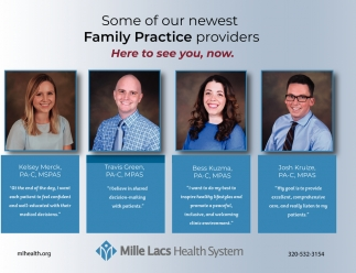 Some of Our Newest Family Practice Providers
