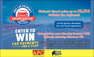 Enter to Win Car Payments for a Year