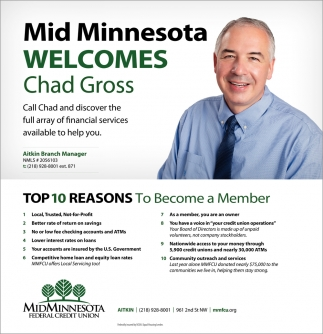 Top 10 Reasons to Become a Member