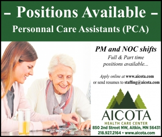 Personnal Care Assistant