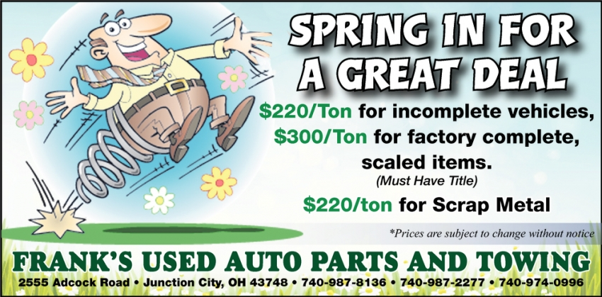 Spring In For A Great Deal