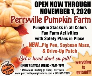 Open Now Through November 1 Perryville Pumpkin Farm