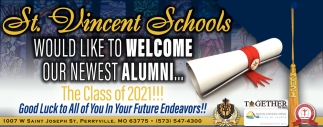 Would Like To Welcome Our Newest Alumni