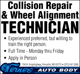 Collision Repair & Wheel Alignment Technician