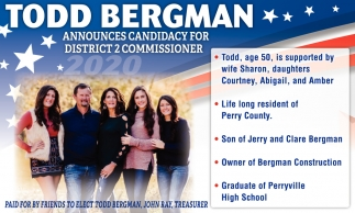 Candidacy for District 2 Commissioner