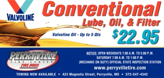 Conventional Lube, Oul & Filter