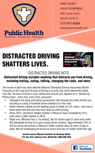 Distracted Driving Shatters Lives