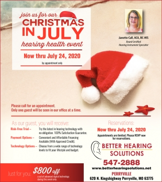 Join us for Our Christmas in July