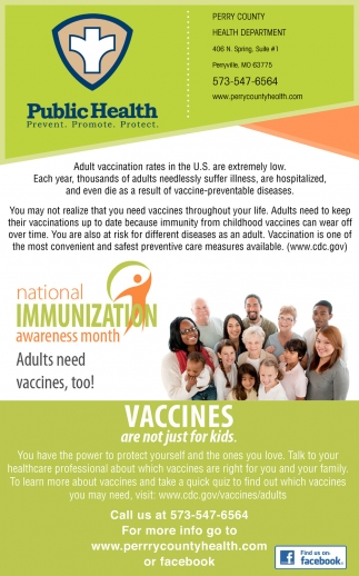 National Immunizatio Awareness Month