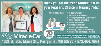 Thank You for Choosing Miracle-Ear as Your Reader's Choice in Hearing Aids!