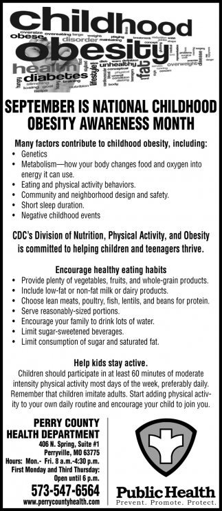September Is Nationa Childhood Obesity Awareness Month