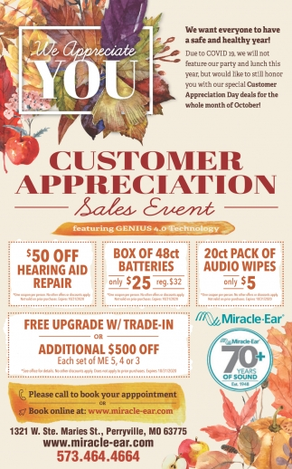 Customer Appreciation Sales Event