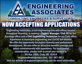 Project Manager / Civil PE & Civil Engineering Technician
