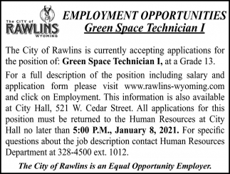 Green Space Technician I