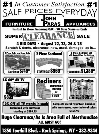 S Pries Everyday John Paras, John Paras Furniture Rock Springs