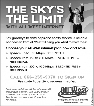 The Sky's the Limit with All West Internet