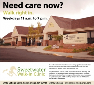 Need Care Now?