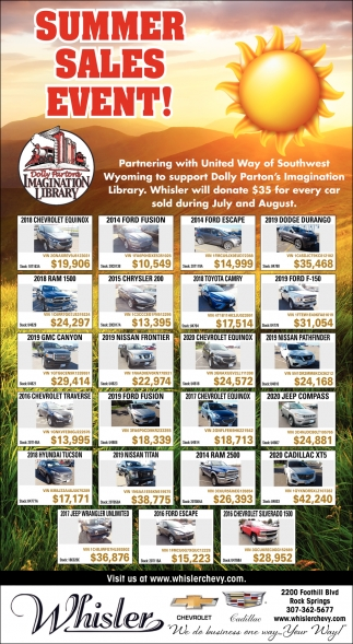 Summer Sales Event!