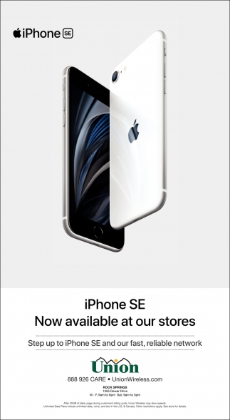 iPhone SE Now Available at Our Stores