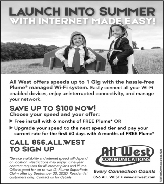 Launch Into Summer with Internet Made Easy!