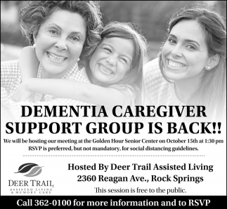 Dementia Caregiver Support Group is Back!
