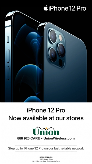iPhone 12 Pro Now Available at Our Stores