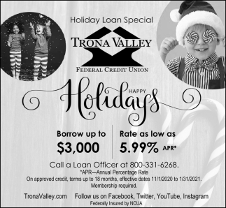 Holiday Loan Special