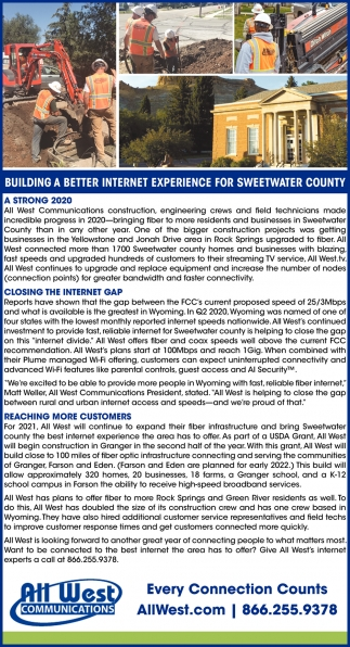 Building a Better Internet Experience for Sweetwater County