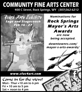 Nominations for Rock Springs Mayor's Arts Awards