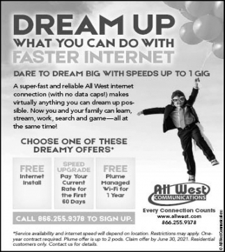 Dream Up What You Can Do with Faster Internet